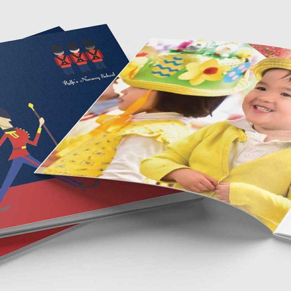 Blue Apple Education prospectus design for Primary Schools, Secondary Schools, Independent Schools, International Schools, Prep Schools, Preparatory Schools